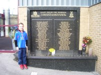 A Memorial for the 56 people who lost their lives at the Bradford City Fire back in 1985
