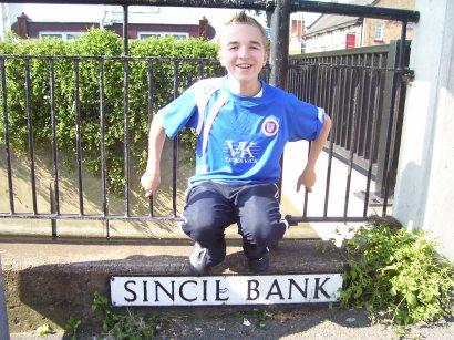 The Sincil Bank road sign