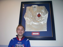 Shirt worn in the 1953 FA Cup Final v Blackpool