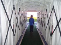 Walking down the tunnel