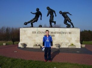 A statue of Sir Stanley Matthews