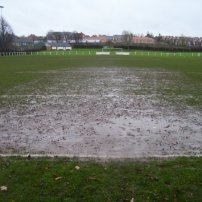 The goalmouth!