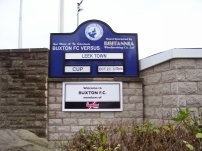 The next match at Buxton sign