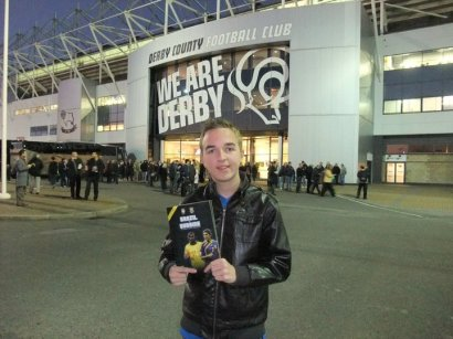 My first international game and first game at Pride Park