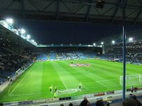 View from the top tier of the away end