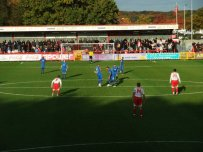 Chesterfield kick off the second half