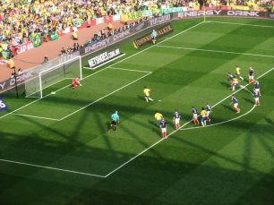 Neymar scores from the spot for Brazil