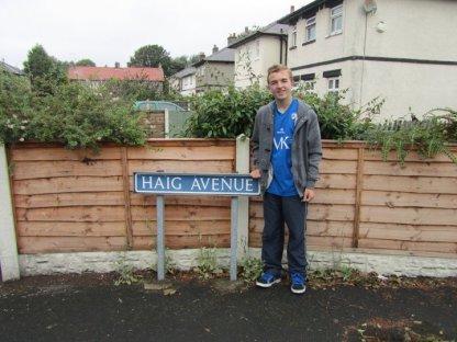 Haig Avenue street sign
