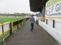 Walking in front of the main stand