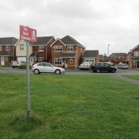 A 'No Ball Games' sign on the last remaining bit of the famous grass bank