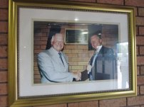 Dave Whelan and Sir Alex Ferguson at the opening of the DW Stadium