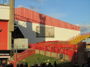 The route through the turnstiles and up to the ground