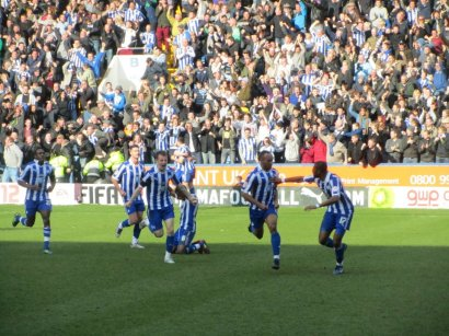 Chris O'Grady's header puts the home side ahead in the derby