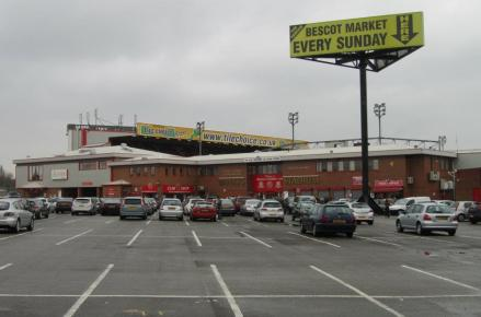 Our first view of the Bescot Stadium