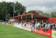 The packed covered terrace