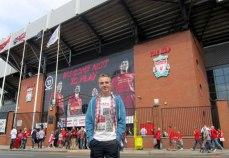 Outside the Anfield Kop