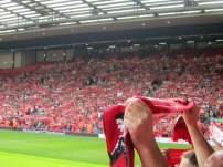 The club's anthem is played before kick off