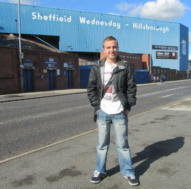 Arriving at Hillsborough ready for my day with the press