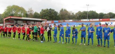 The handshakes before kick off