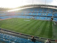 Inside the Etihad Stadium