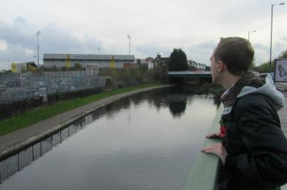 I look over the river at Meadow Lane