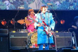 Paul McCartney in his blue Sgt Pepper outfit