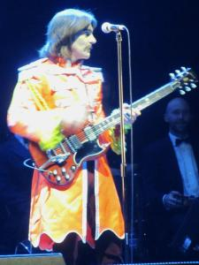 George Harrison in his orange outfit