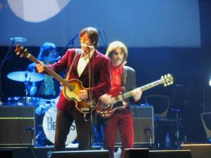 McCartney and Harrison in the later Beatles outfits