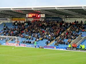 The travelling Burton supporters