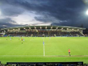 Darkness falls over the Proact Stadium