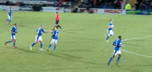 Marc Richards scores the equalising goal