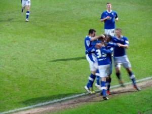 The Chesterfield players celebrate