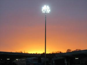 The sun sets over the Proact Stadium