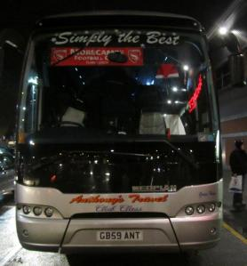 The visitors coach