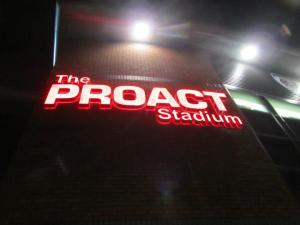 The Proact Stadium sign