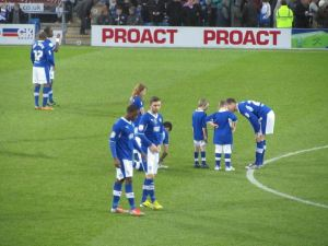 The Chesterfield players and mascots