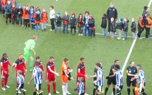 The pre match handshakes