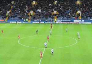 Bristol City get the second half underway