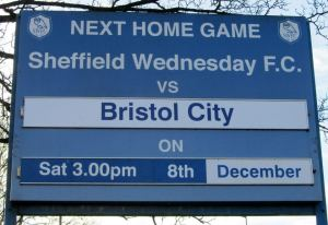 Today's visitors to Hillsborough are fellow strugglers Bristol City