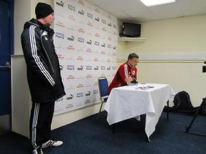 Bristol City manager Derek McInnes gives his view of the game