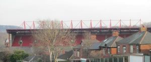 The East Stand towers over the rest of the stadium