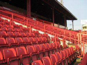 The lower tier of the West Stand