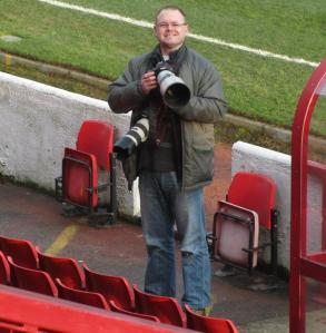 Our friend Dan Westwell photographs the game