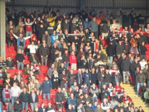 Just over 1,000 Clarets fans made the trip to Oakwell