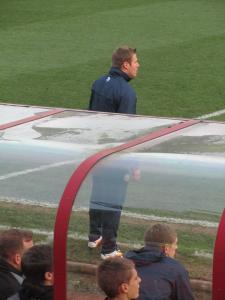 Caretaker manager David Flitcroft takes charge of his first game