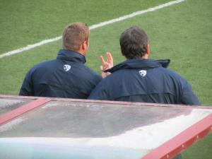 David Flitcroft and his assistant