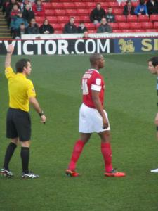 Harewood walks away from the referee
