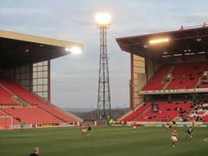 The floodlights shine over Oakwell