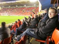 Enjoying the extra leg room that FA Cup ties often allow!