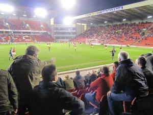 The Barnsley fans anxiously watch as their side hold on for the win